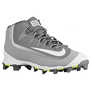 NIKE Men's Huarache 2KFilth Keystone Mid Baseball Cleat Cool Grey/Platinum/White Size 8 M US
