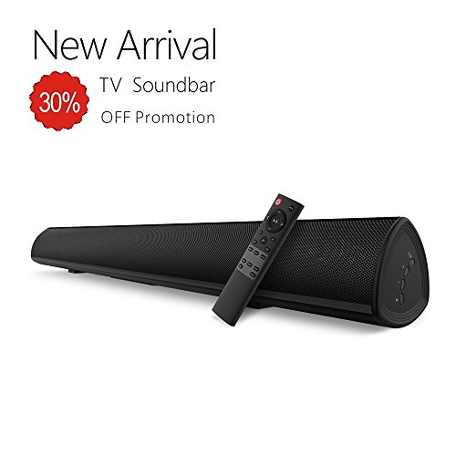 Sound bar, BYL Soundbar Wired and Wireless Bluetooth Speaker for TV, Smartphone, Projector (28 Inches, Optical Cable Included, DSP, Remote Control with Learning Function, Bass Adjustable) by BYL