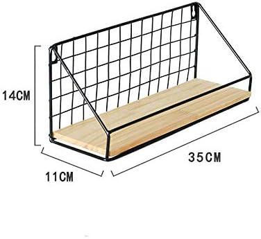 Blanco//Negro Hacoly Wall Shelf Hover Racks Rejilla Estantes flotantes montados en la Pared Tablero de Pared de Estante Colgante Duradero y ecol/ógico para la decoraci/ón de la Pared