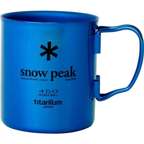 Snow Peak Titanium Double Wall Cup 450 (Snow Peak Titanium Folding Cup)