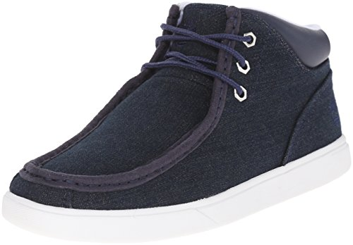 Timberland Men's Groveton Moc Toe Fabric Chukka Boot, Blue Denim, 12 M -