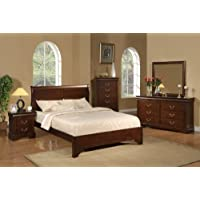 Alpine Furniture West Haven 5 Piece Bedroom Set, King Size