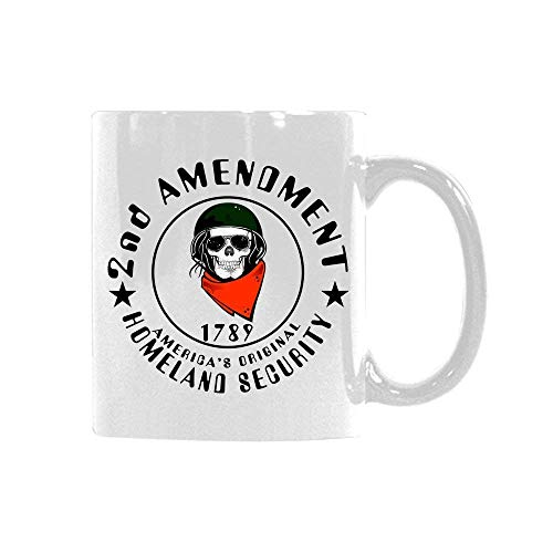 2nd AMENDMENT HOMELAND SECURITY Skull Soldier 1789 Custom 11Oz.Mug Funny Ceramic Coffee Mug Unique Mug Present For Christmas Birthday Anniversary ()