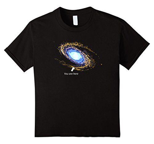 Kids Milky Way Galaxy T Shirt You Are Here Astronomy Shirt 8 Black