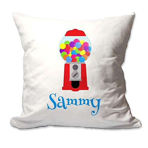 Pattern Pop Personalized Gumball Machine Throw Pillow Cover - 17X17 Throw Pillow Cover (NO Insert) - Decorative Throw Pillow Cover - Soft Polyester