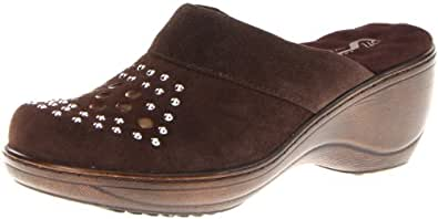Softwalk Women's Murietta Studs Clog,Dark Brown,9.5 M US