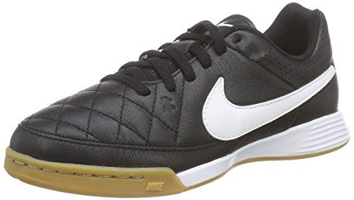 Nike Tiempo Genio Leather IC, Unisex-Kinder Fußballschuhe, Schwarz (Black/White-Black 010), 33 EU