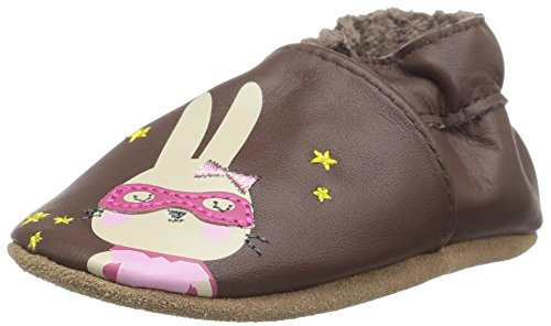 Robeez Girls' Soft Soles, Traditional Silhouette Slip-On, Caped Cuties - Brown, 18-24 Months M US ()
