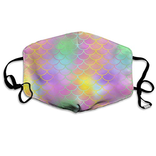 - Colourful Fish Scale Magic Mermaid Tail Flu Dust Masks Reusable Cotton Breathable Safety Respirator for Outdoor Cycling Face Earloop Masks Dust Pollen Flu Germs Allergens Masks