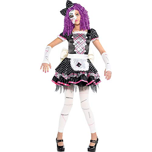 amscan Girls Damaged Doll Costume - Small (4-6), Multicolor]()