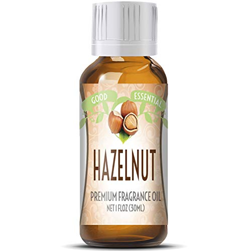 Hazelnut Scented Oil by Good Essential (Huge 1oz Bottle - Premium Grade Fragrance Oil) - Perfect for Aromatherapy, Soaps, Candles, Slime, Lotions, and More!