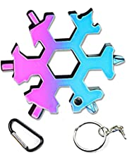 The Latest Snowflake Tool,19-in-1 Snowflake Multi Tool, Incredible Tool, Portable Stainless Steel Keychain Screwdriver Bottle Opener Snowflake Multitool for Outdoor Enthusiast and Men's Gift