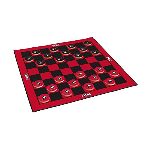 Victory Tailgate Northern Illinois University Huskies 2-in-1 Giant Checkers & All Weather Mat