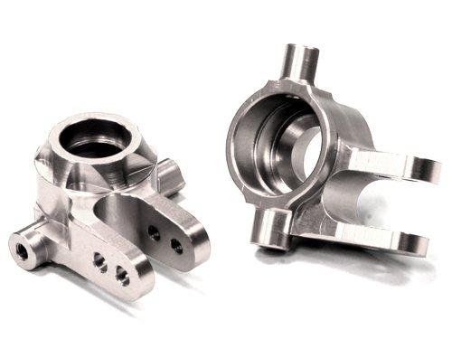 Integy RC Model Hop-ups T8594SILVER Billet Machined T2 Steering Block (2) for 1/10 Stampede 4X4 & Slash 4X4 (Integy Block Steering)