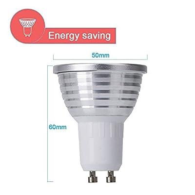 GU10 LED Lights Bulbs, URPIRE 4W Spotlight Bulb 16 Colors Changing Lights with 24 Keys Remote Control for Home Decoration, Bar, Landscape, Bedroom, Living Room, Track Lighting ( 4 Pack )