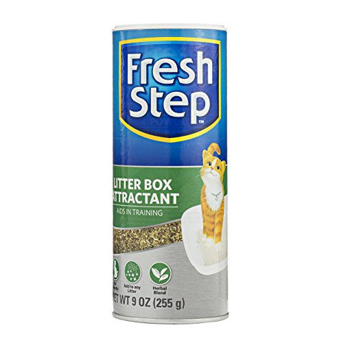 Fresh Step Litter Box Attractant Powder to Aid in Training, 9 Ounces | All Natural Training Aid For Cats and Kittens