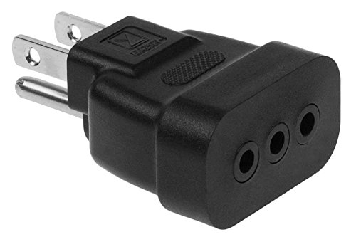- SF Cable America NEMA 5-15P plug to Italy CEI-23-16 receptacle plug adapter