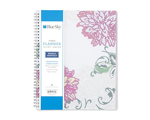 Blue Sky 101707 2018 Weekly & Monthly Planner - Twin-Wire Binding - 8.5