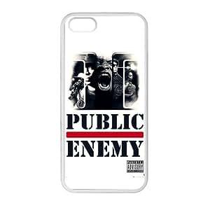 OWKDWTT Hip-Hop band Public Enemy Custom Case for iPhone 5,5S TPU (Laser Technology)