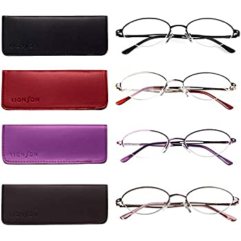 49c4f3bf60 Liansan 4 Pairs Quality Ladies  Readers Metal Half Frame Reading Glasses  for Women L731(