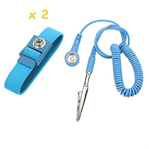 2 pcs. Anti Static ESD Wrist Strap Discharge Band Grounding