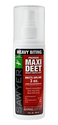 (Sawyer Products Premium Maxi-DEET Insect Repellent Pump Spray, 3-Ounce)