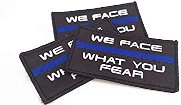 Polizeimemesshop Toppa in Tessuto con Scritta We Face What You Fear