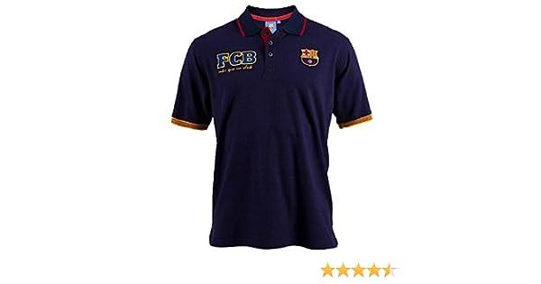 FCB Barça Polo Cat Marino T-L: Amazon.es: Ropa y accesorios