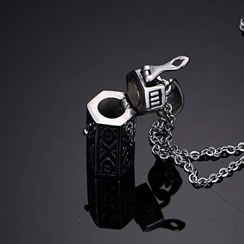Memorial Cremation Urn Ashes Holder Pendant For Women Men Necklace Stainless Steel Unisex Stylish Openable Jewelry
