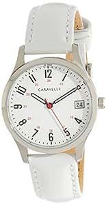 CARAVELLE Women's 43M117 Analog Quartz White Watch