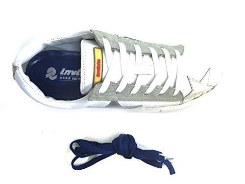 invicta Laccio Argento Bianca Doppio Sneaker Scarpa 4461110 Pelle Cassetta Donna frPHfwq