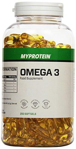 Myprotein Omega 3 Softgelkapseln- 250 Kapseln, 1er Pack (1 x 250 g)