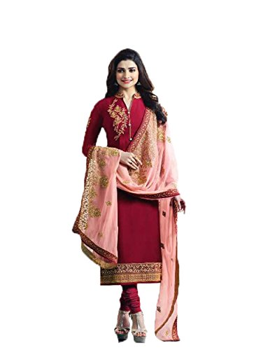 Ready Made New Designer Indian/Pakistani Fashion Dresses For Women VF (SMALL-38, Red-2)