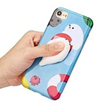 Boddenly iPhone 6S Case Squishy 3D Cute Animal Seal Soft TPU Gel Case Cover for iPhone6/6S Plus 5.5inch (Blue)