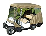 """Golf Cart Driving Enclosure for 4 Passengers roof up to 80""""L, fits Club car, EZGo and Yamaha G model - All Weather"""