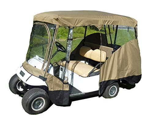 FC Formosa Covers Golf Cart Driving Enclosure for 4 Passengers roof up to 80 L, fits Club car, EZGo and Yamaha G model - All Weather