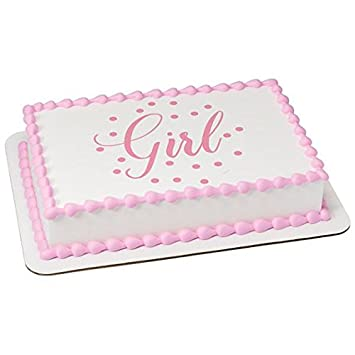 Pictures of girl baby shower sheet cakes