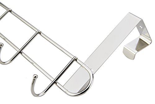 Pro Chef Kitchen Tools Over The Door Hook - General Purpose Storage Racks - 6 Coat Hooks - No Drill Towel Rack for Bathroom Storage Closet - Behind The Door Organizer Clothes Rack - Key Broom Hanger by Pro Chef Kitchen Tools (Image #8)