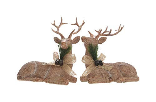 Brand Name: Decoris Christmas Theme: Laying Deer Product Type: Christmas Decoration Material: Resin Number in Package: 1 pk