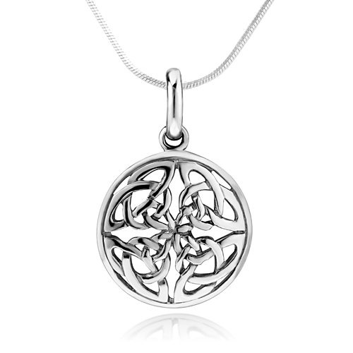 Amazon 925 sterling silver celtic knot round pendant necklace amazon 925 sterling silver celtic knot round pendant necklace 18 inch snake chain celtic knot jewelry jewelry mozeypictures Gallery