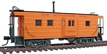 (Walthers Platinum Line HO Scale Milwaukee Road (Full Name) #01803 Rib Side Caboose (932-7661))