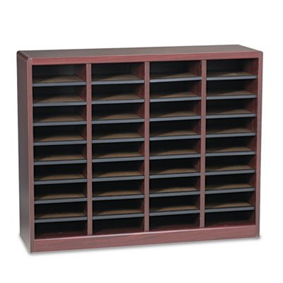 Wood/Fiberboard E-Z Stor Sorter, 36 Sections, 40 x 11 3/4 x 32 1/2, Mahogany, Sold as 1 Each
