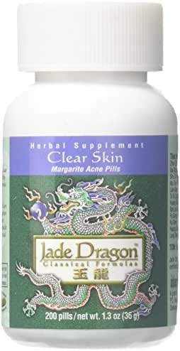 Clear Skin or Margarite Acne Pills, 200 Pills, Teapills