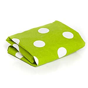 100% Cotton, Perky Polka Dots in Lemongrass Green & Optic White Crib Fitted Sheet