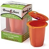 Brew & Save Carafe Filter, Keurig 2.0 Multi-Cup Brewer Compatible - Orange