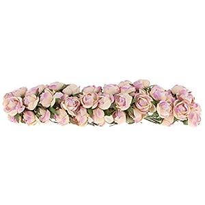 Dolity Artificial 50-Head Camellia Fake Flower Bouquet Garden Decorative 41