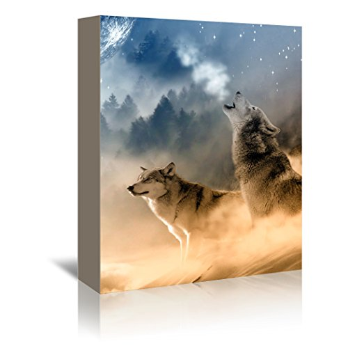 Americanflat Gallery Wrapped Canvas - Fantasy Wolf Wolves
