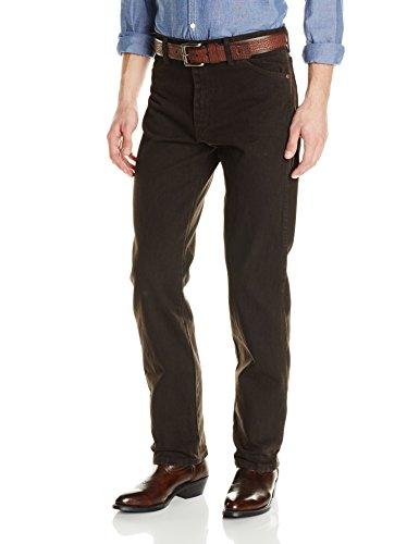 Chocolate Black Jean Denim (Wrangler Men's Cowboy Cut Original Fit Jean, Black Chocolate, 38Wx30L)