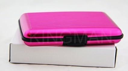 Neuf rosa aluminio Aluma cartera tarjeta de Crédito Holder?-?Stop RFID Blocking