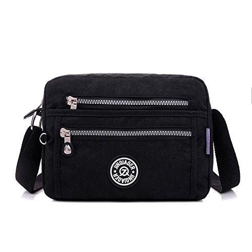 Bolso Bolsa Bag Impermeable de Foino Bolsos Bolsas Escolares Colegio Moda para Ligero Messenger Sport Negro Bandolera Baratos Viaje Mujer Bolsos de gTq0d